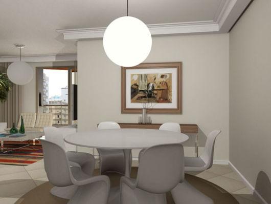 mesa de jantar redonda laqueada design