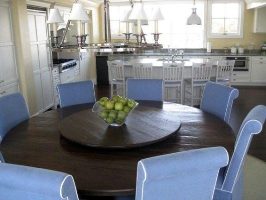 mesa de jantar redonda que gira