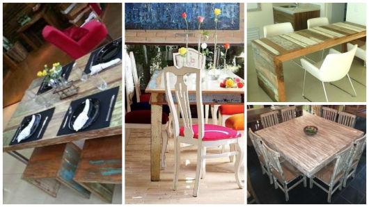 mesa com pátina