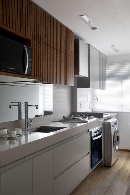 Cozinha piso madeira