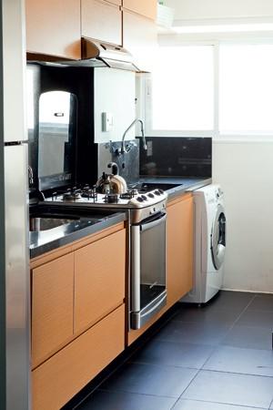 Bancada preta cozinha