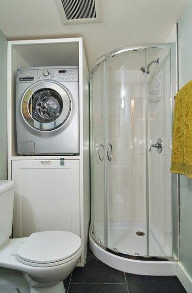 Lavanderia no banheiro