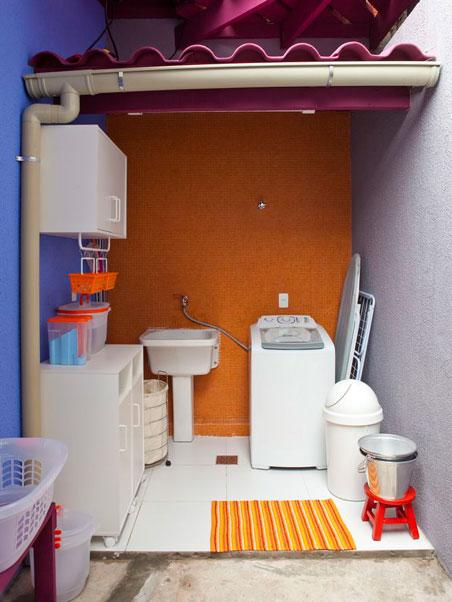 Lavanderia simples e colorida