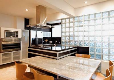 parede de vidro cozinha
