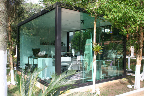 parede de vidro escritório