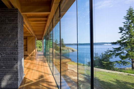 parede de vidro estilo
