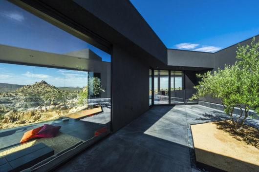 parede de vidro estilosa