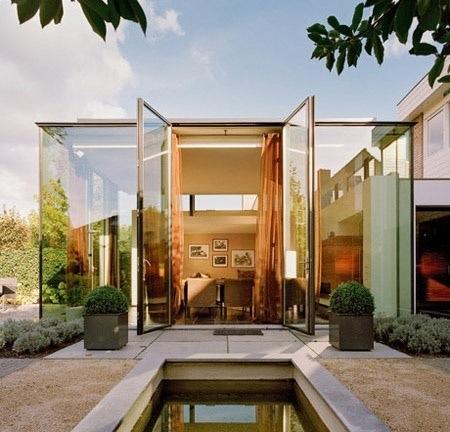 parede de vidro fachada linda