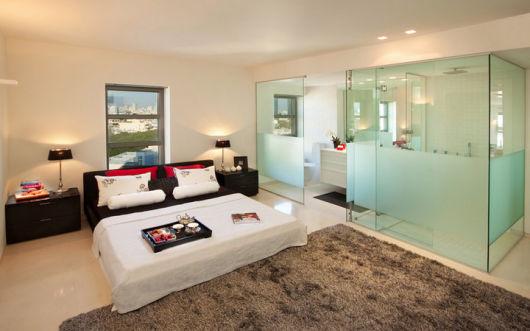 parede de vidro -quarto