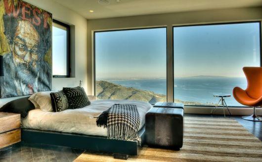 parede de vidro quarto linda