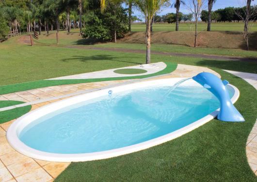 Cascata golfinho piscina