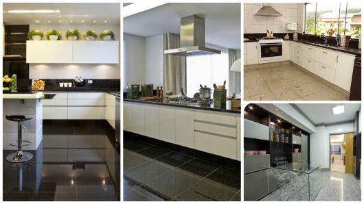 Piso para cozinha saiba como escolher for Modelos de pisos de granito