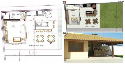 45 plantas de casas modernas e lindas com projeto 3d gr tis for Casa moderna 7x15