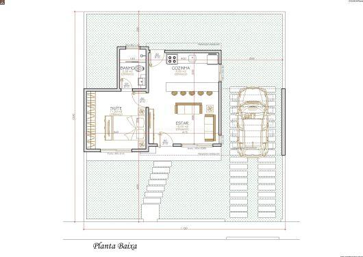 Casa térrea com 1 quarto