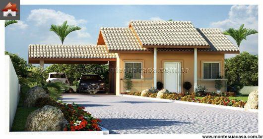 45 plantas de casas modernas e lindas com projeto 3d gr tis for Fachada tradicional