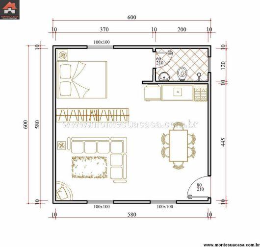 Casa estilo kitnet