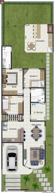 45 Plantas de casas modernas e lindas  com projeto 3d grátis