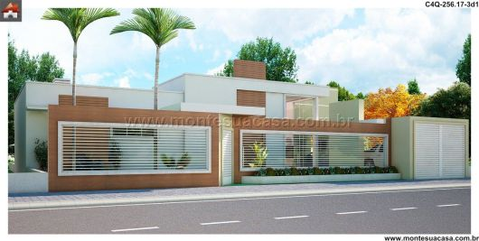 Projeto casa com muro