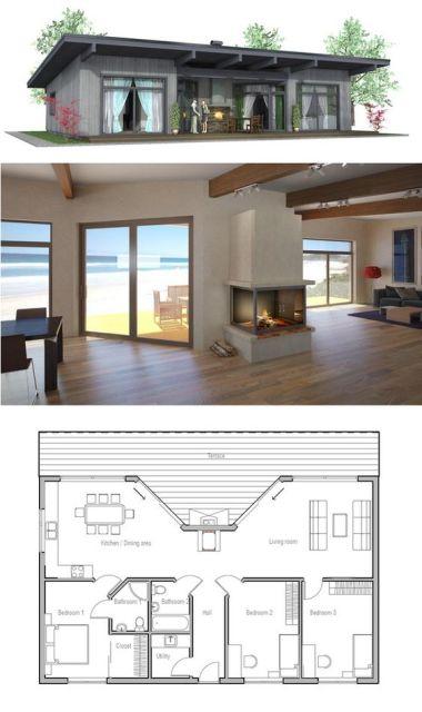 Casa de madeira com 3 quartos