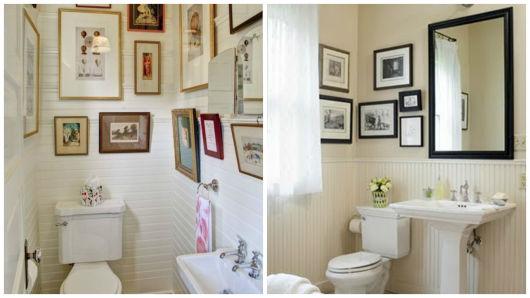 Quadros para Banheiro e Lavabo Como decorar e 30 fotos! -> Banheiro Decorado Quadros