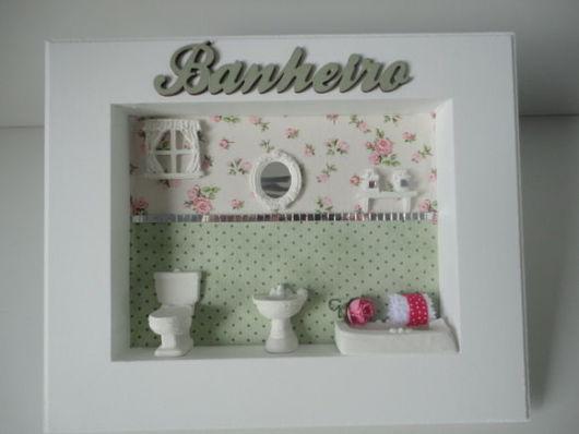 Quadros para Banheiro e Lavabo Como decorar e 30 fotos! -> Cuba Banheiro Biscuit