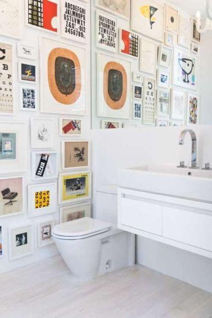 quadros para banheiro divertidos variados