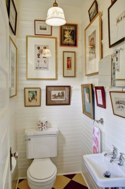 quadros para banheiro estilo vintage