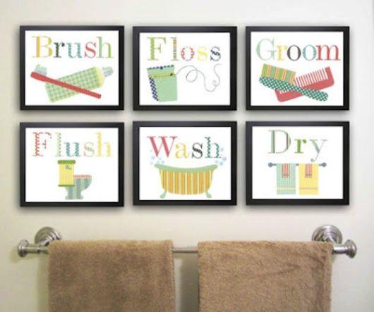 Quadros para banheiro e lavabo como decorar e 30 fotos - Stampe per bagno ...