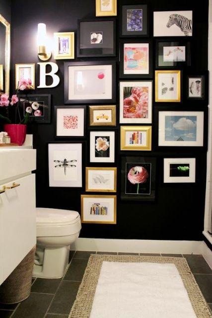 quadros para banheiro variados
