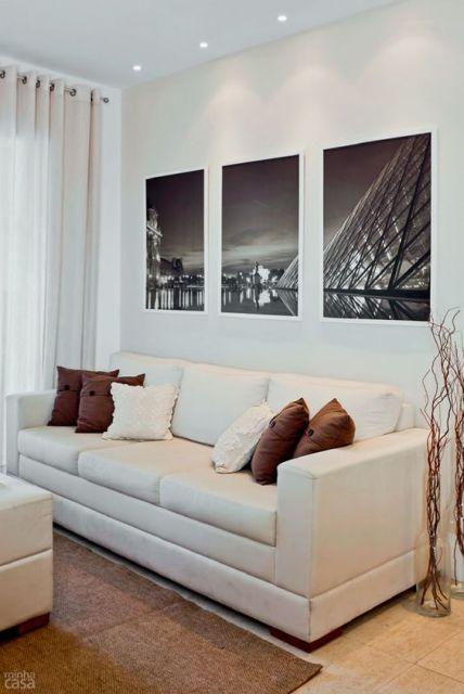 Sofá branco decoração