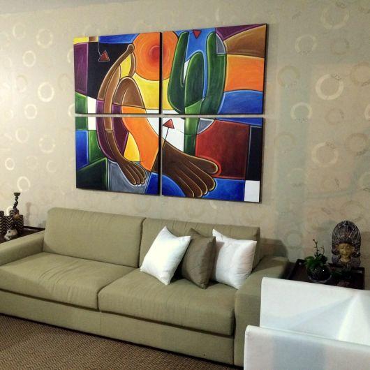 Quadros Grandes Para Sala De Estar ~ Quadros para sala decorativos 65 inspirações lindas!