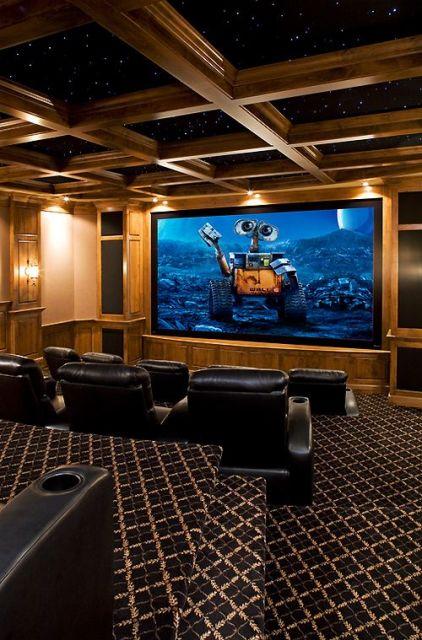 sala de jogos com cinema