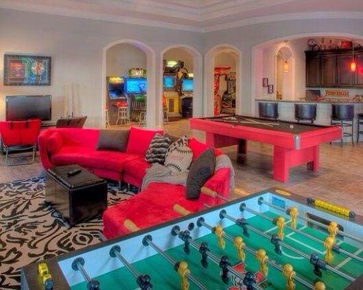 sala de jogos dos sonhos vermelha