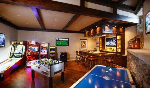 sala de jogos eletrônicos luxo