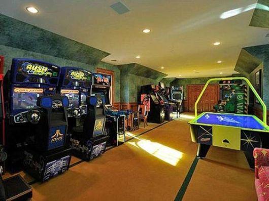 sala de jogos eletrônicos