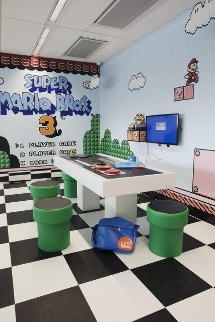 sala de jogos simples de videogame
