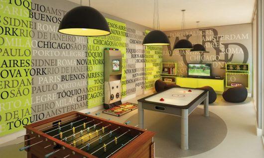 sala de jogos simples