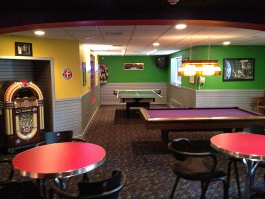 sala de jogos vintage