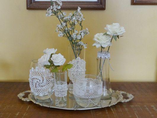 Vasinhos de flores decoração