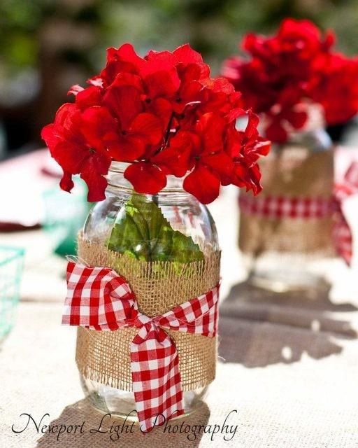 Decoração com flores mesa