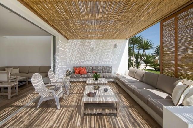 Cobertura de bambu elegante para casa