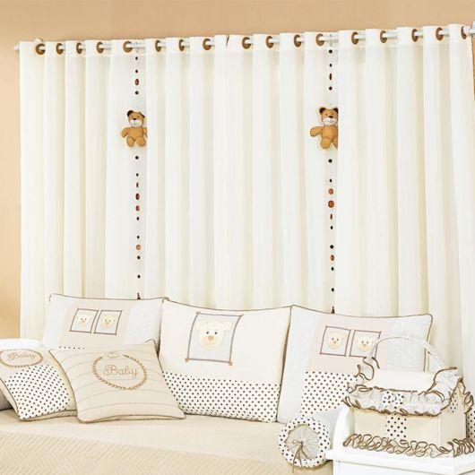 Cortinas para quarto de beb veja 50 modelos lindos for Modelos de cenefas para cortinas