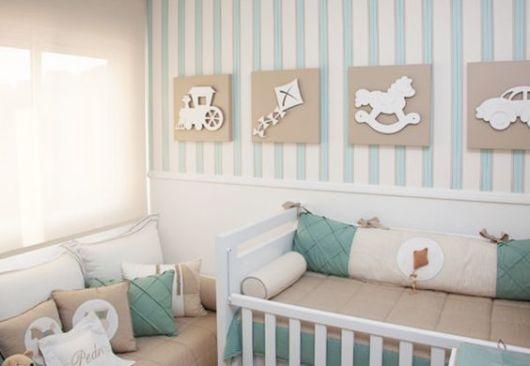 Cortinas para Quarto de Bebê persiana branca