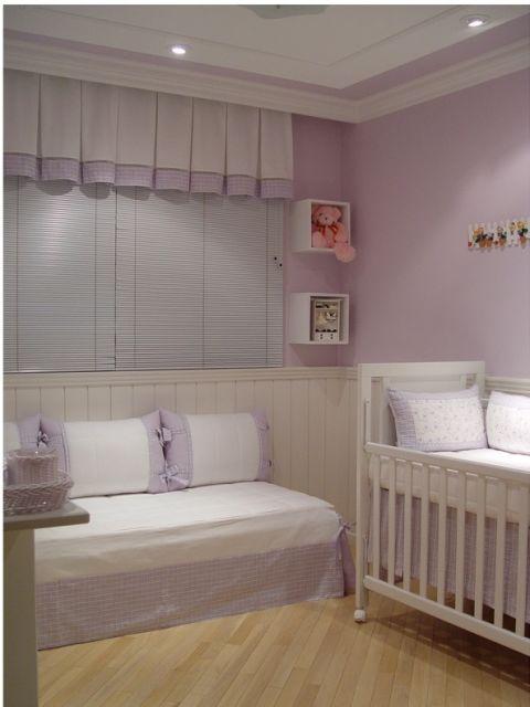 Cortinas para Quarto de Bebê persiana rosa
