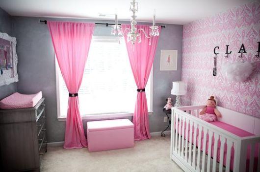 Cortinas para Quarto de Bebê pink