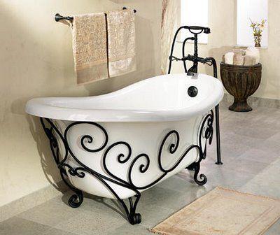 arte em ferro banheira
