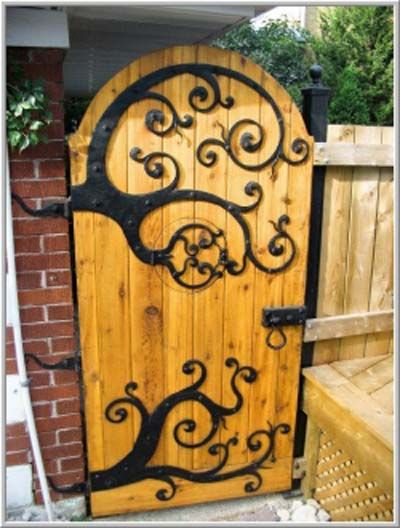 arte em ferro porta