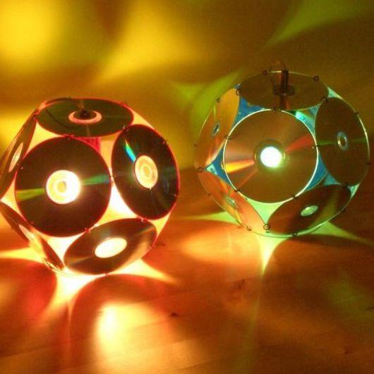 luminária reciclagem