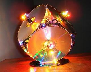 luminária com cordão de luzes