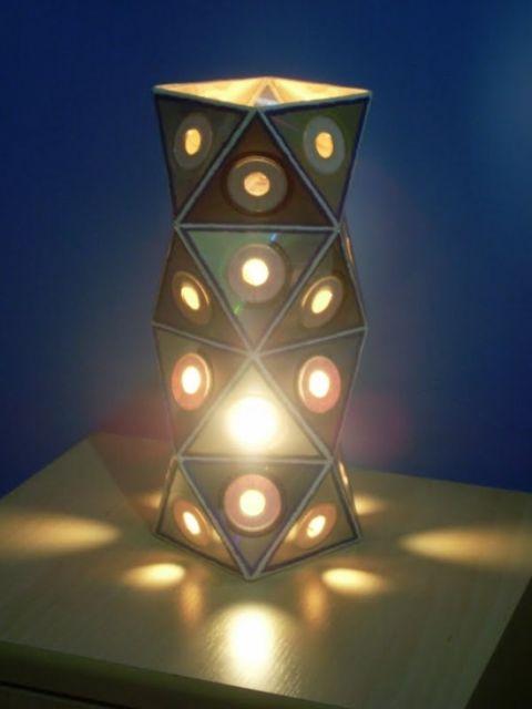 luminária geométrica